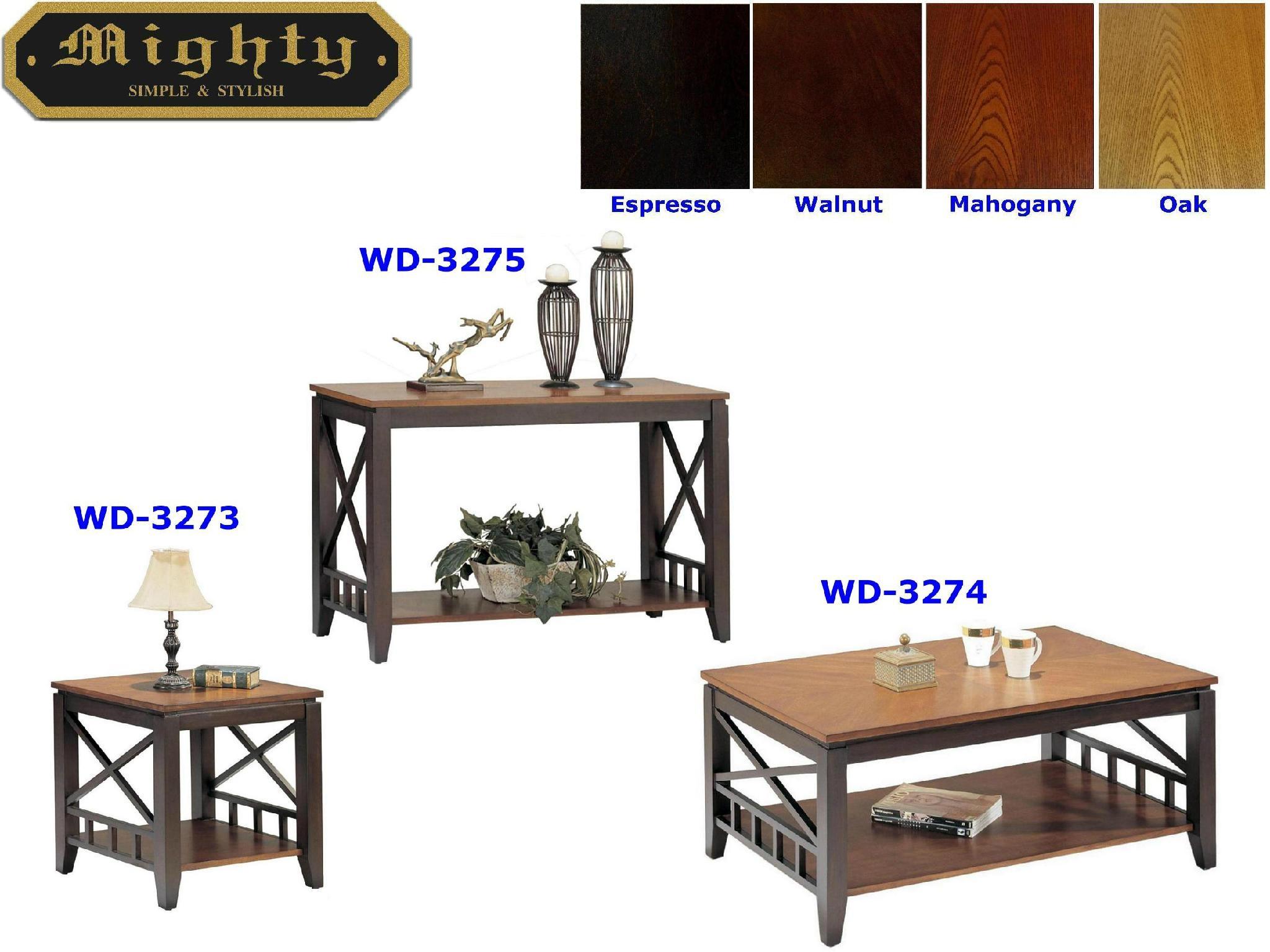 3PCS Wooden Two-Tone Color Best Designer Unique Coffee Tables - WD ...