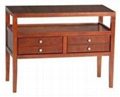 3PCS Wooden Mahogany Modern Coffee Table with drawers