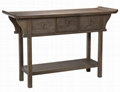 3PCS Solid Wood Antique Grey Alter Rustic Coffee Table Designs