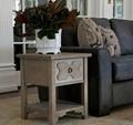 3PCS Reclaimed Grey Modern Wood Art Deco Coffee Table Design