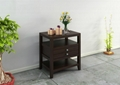 4PCS Wooden Espresso Contemporary Coffee And End Table Sets