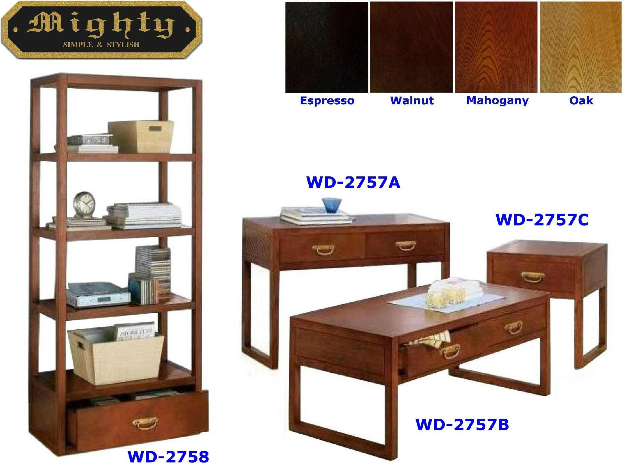 4pcs Wooden Walnut Living Room Cheap Coffee Table Sets Modern Taiwan