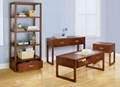 4PCS Wooden Walnut Living Room Cheap Coffee Table Sets Modern