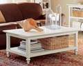 4PCS White Square Wood Coffee Tables And Coffee Table Sets