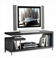 45 inch Wooden Grey Reclaimed LCD TV Table Stand 3