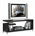 45 inch Wooden Grey Reclaimed LCD TV Table Stand 5