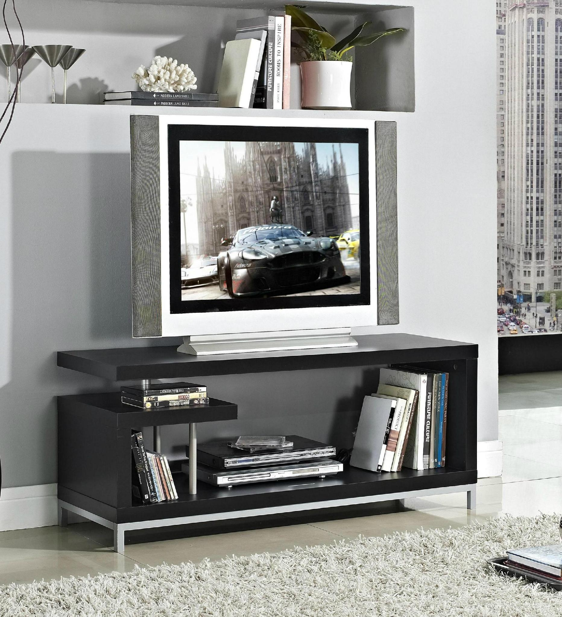 45 inch Wooden Grey Reclaimed LCD TV Table Stand 4