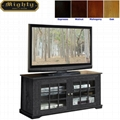 48 inch Reclaimed Grey Mullion Door Antique TV Stand