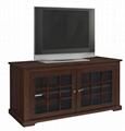 48 inch Reclaimed Grey Mullion Door Antique TV Stand