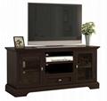 48 inch Dark Mahogany Bottom Drawer Vintage TV Cabinet