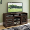Walnut Wood And Glass Television Entertainment TV Cabinet