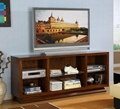 Wooden Mahogany Cubbies Large and Wide 70 TV Stand
