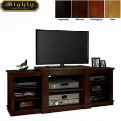 Wooden Espresso av entertainment 70 inch TV Stand