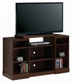 "48"" Wooden Walnut Living Room Simple Designs Cheap TV Stand"