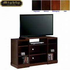 """48"""" Wooden Walnut Living Room Simple Designs Cheap TV Stand"""