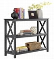 Wooden 2 Tier Classic Charcoal Entrance Foyer Console Table