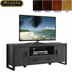 60 inch Wooden Reclaimed Grey Two Doors Media Storage Cabinet