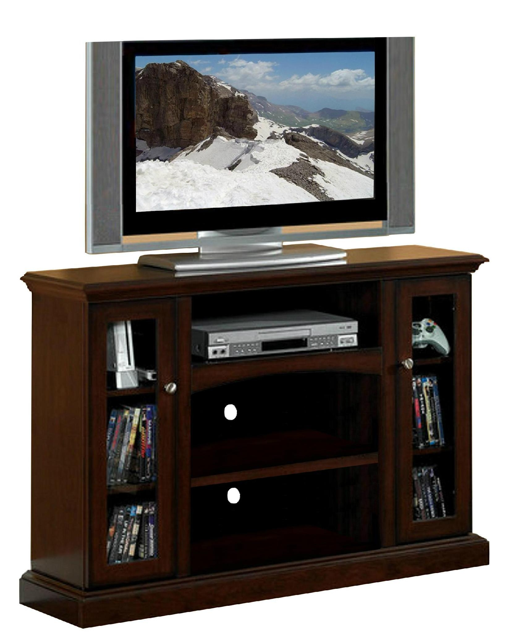 48 inch espresso 2 glass doors entertainment tall tv stands wd 3872 mighty taiwan for Tall tv stands for living room