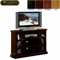 48 inch Espresso 2 Glass Doors Entertainment Tall TV Stands