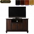 48 inch Dark Walnut Wood Raised Doors TV Cabinet TV Stand Wood