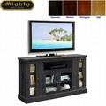 54 inch Charcoal Grey 4 Glass Doors Rustic TV Console Tables
