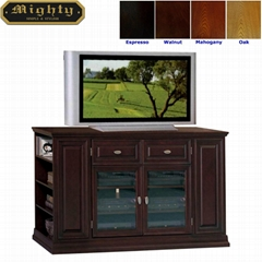 54 inch Side Piers Entertainment TV Stand Cabinets With Storage