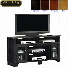 60 inch Charcoal Grey Modern Tall TV Stand Furniture