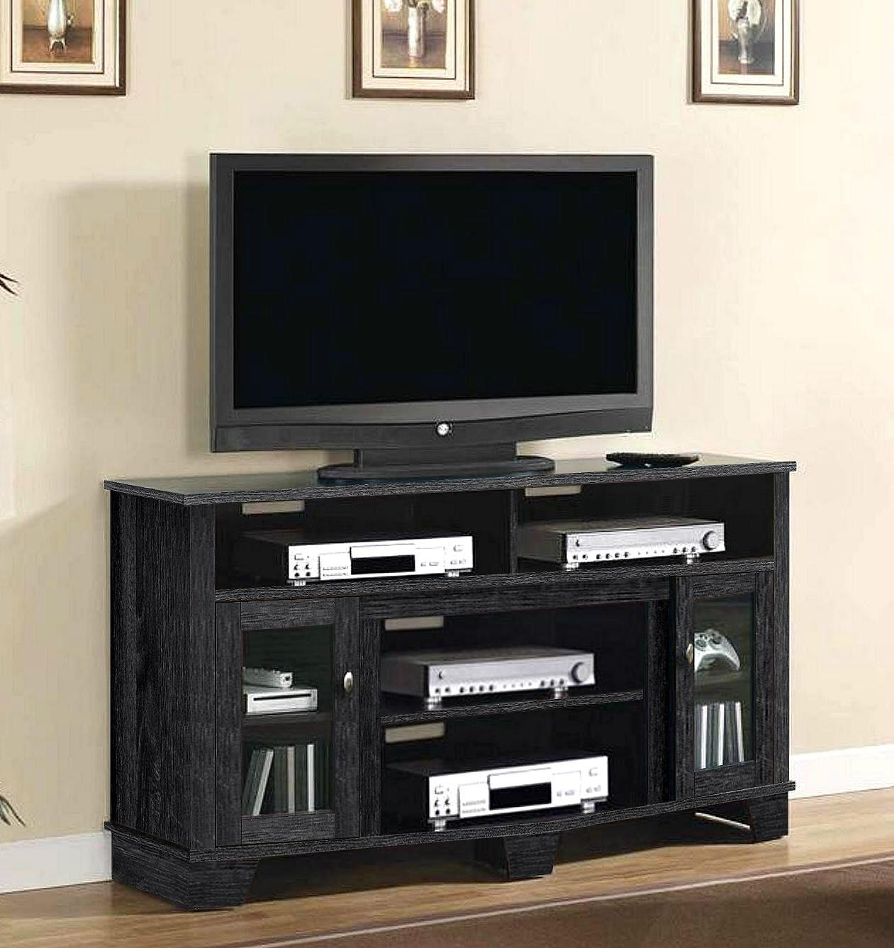 60 Inch Charcoal Grey Modern Tall Tv Stand Furniture Wd 3912 Mighty Taiwan Manufacturer