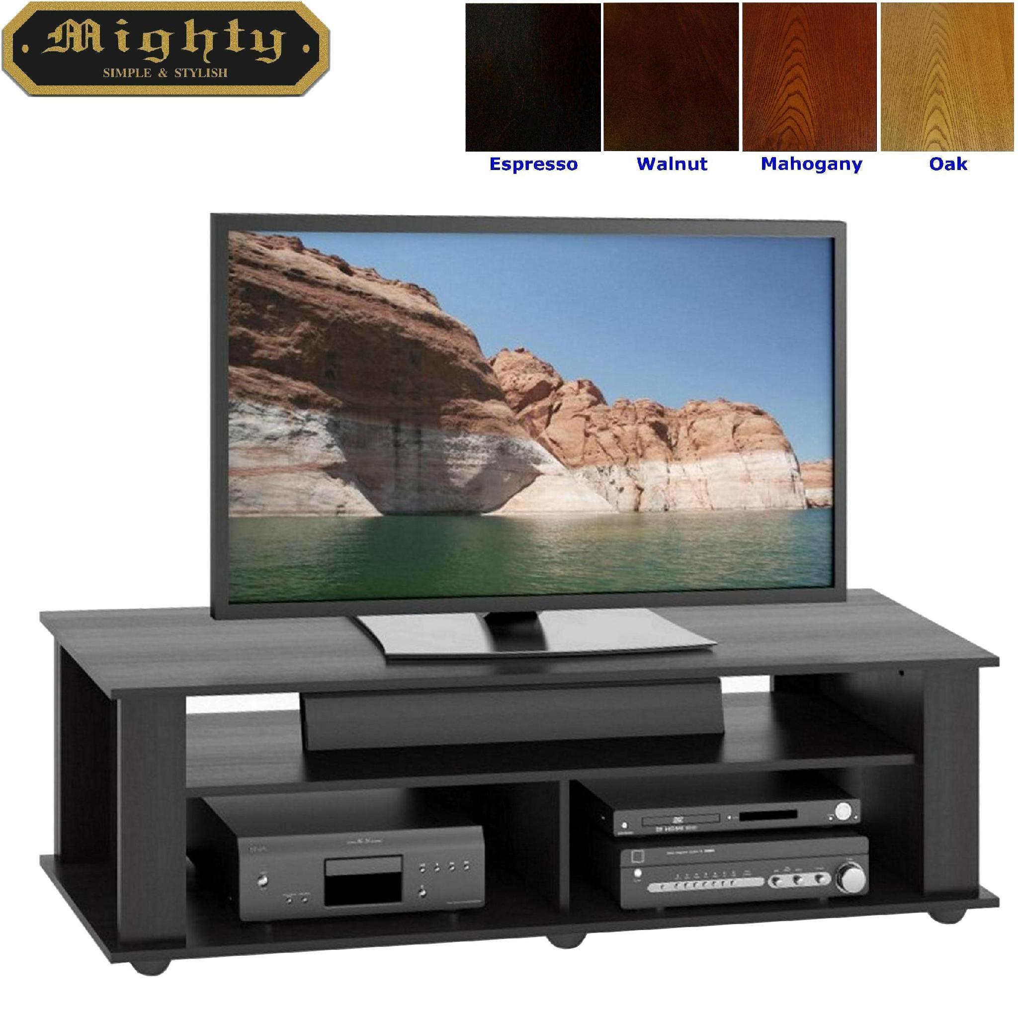 60 Inch Wooden Black Universal Modern Tv Entertainment