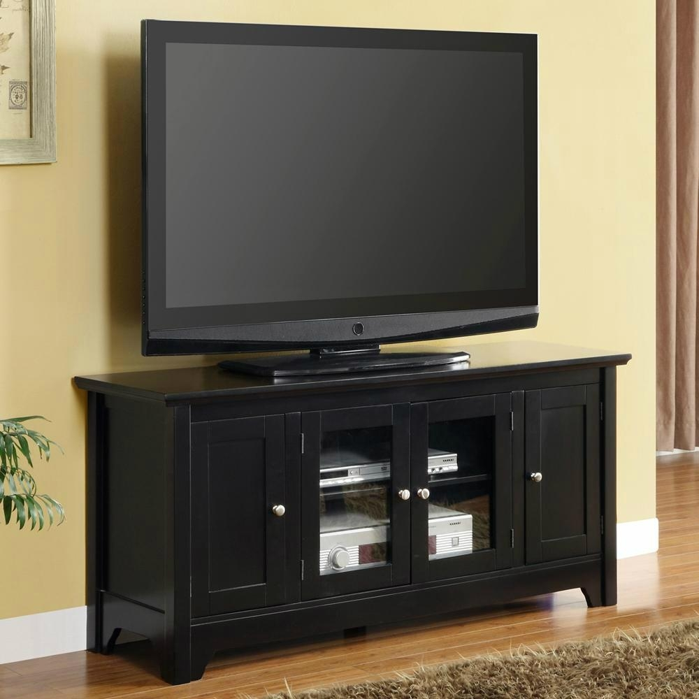 50 inch mahogany contemporary flat screen tv stand wd - What size tv to get for living room ...