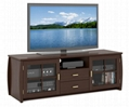 59 inch Espresso Drawer TV Media Television Cabinets With Doors