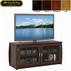 48 inch Espresso Television TV Media Cabinet With Doors