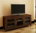 60 inch Two Mullion Glass Doors Modern TV Cabinets AV Cabinets