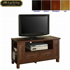 44 inch Small Mahogany TV Storage Cabinet Bedroom TV Stand