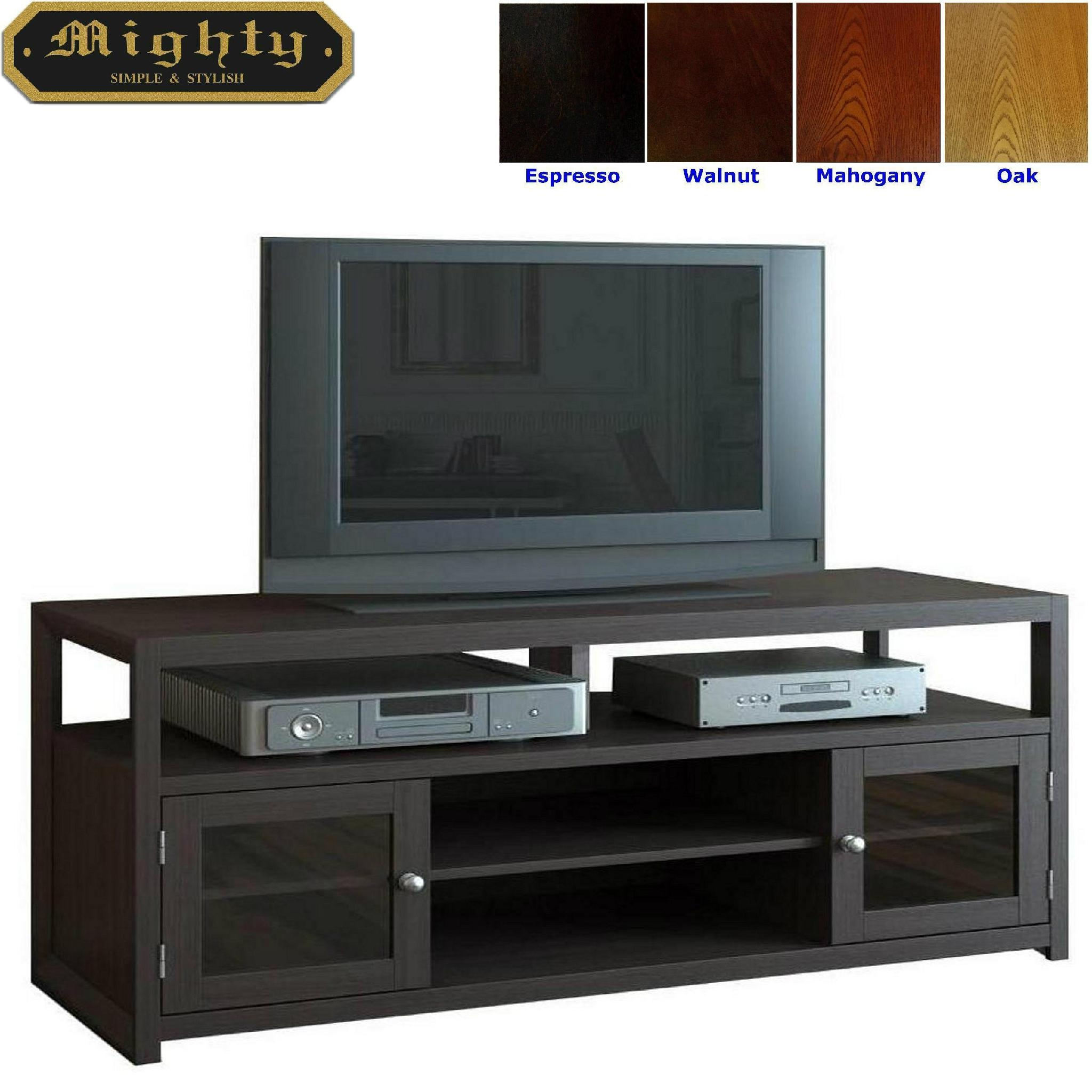 60 inch wooden espresso two doors plasma tv media stands. Black Bedroom Furniture Sets. Home Design Ideas