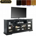70 inch Wooden Black Tall Modern TV Media Consoles