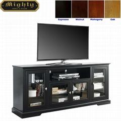 70 inch Wooden Black Tall Modern TV Media Consoles