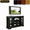52 inch Wooden Black Tall Modern TV Media Console