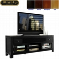 72 inch Modern Two Doors Television Black TV Consoles