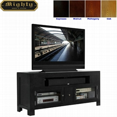 60 inch Modern Two Doors Television Black Media TV Console