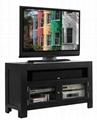 48 inch Modern Two Doors Best Black Wood TV Stands