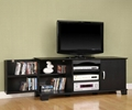 60 inch Wooden Black TV Storage Console Cabinet