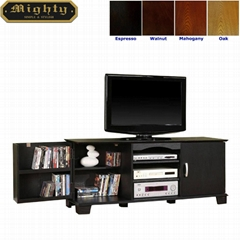 60 inch Wooden Black TV Storage Console Cabinet