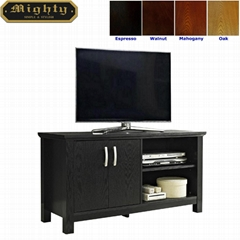 44 inch Wooden Small Black TV Storage Cabinet Unit