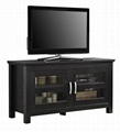44 inch Wooden Small Black TV Floor Stand
