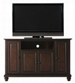 48 inch Dark Walnut Wood Raised Doors TV Cabinet TV Stand Wood