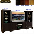 Wooden Espresso Media Room Home Entertainment Furniture
