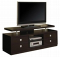 Wooden Component Cabinet Modern Black Entertainment Center