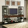 Wooden Walnut Audio Pier Contemporary Home Entertainment Center