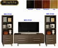 Wooden Espresso Stereo And Audio TV Media Center Furniture